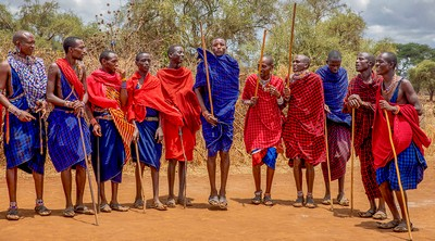 Maasai Welcome 1, Smalley  Karen , England