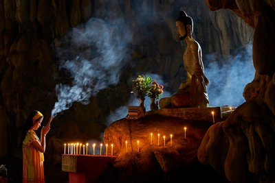 Praying At Buddha Temple, Aung  Htet , Myanmar