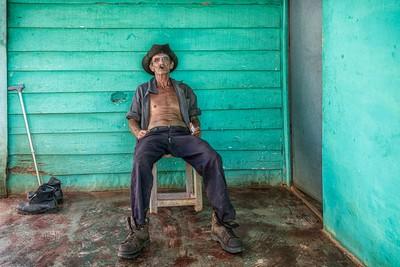 Cuban Farmer At Home, Moritz  Vicki , Australia