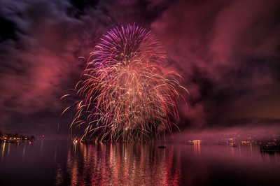 New Year Fireworks On Zurich Lake, Banerjee  Sounak , India