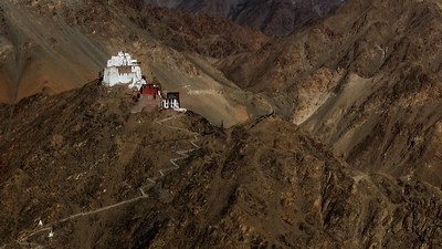 CASTLE AT LADAKH, CHAUDHURI  ASIM KUMAR , India