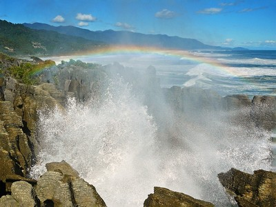 Punakaiki Blowhole New Zealand, Anderson  Margaret , New Zealand