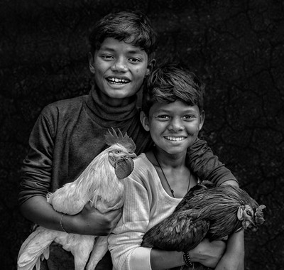 BOYS WTH HEN, BASAK  ABHISHEK , India