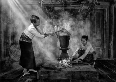 Steaming Rice, Tay  David Poey Cher , Singapore