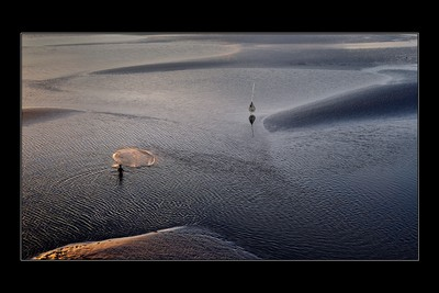 Lone Fisherman, Sarkar  Soham , India